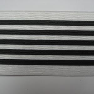 Gestreept Elastiek zwart-wit 6cm breed €3,50 p/m