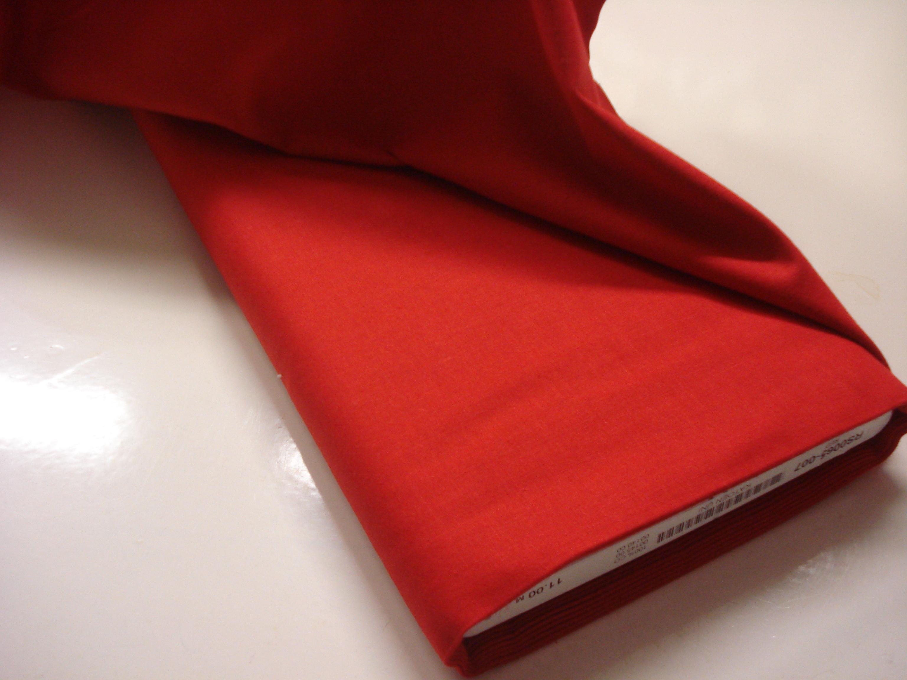 Katoen effen - Rood