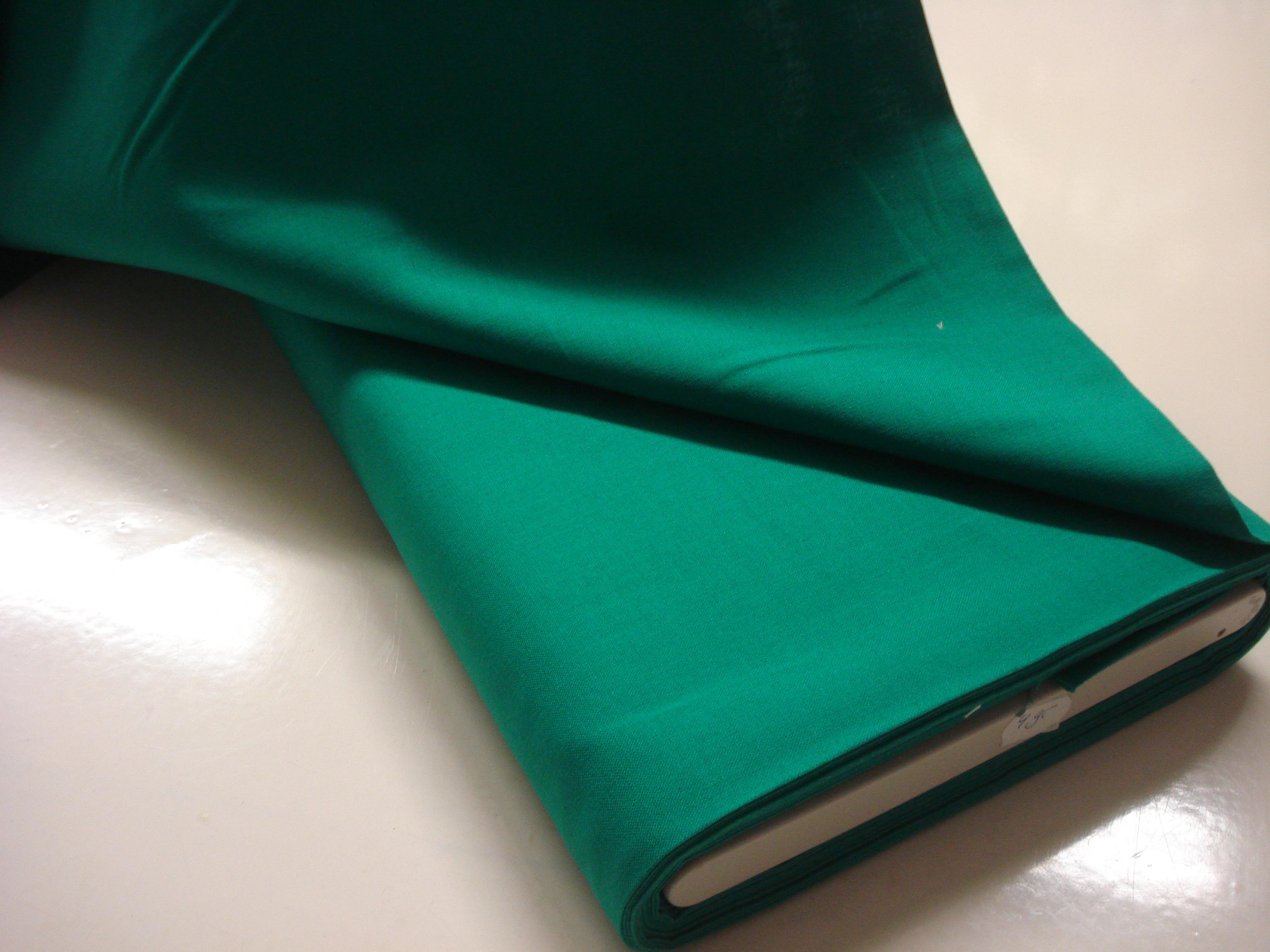 Katoen effen - Hard Groen