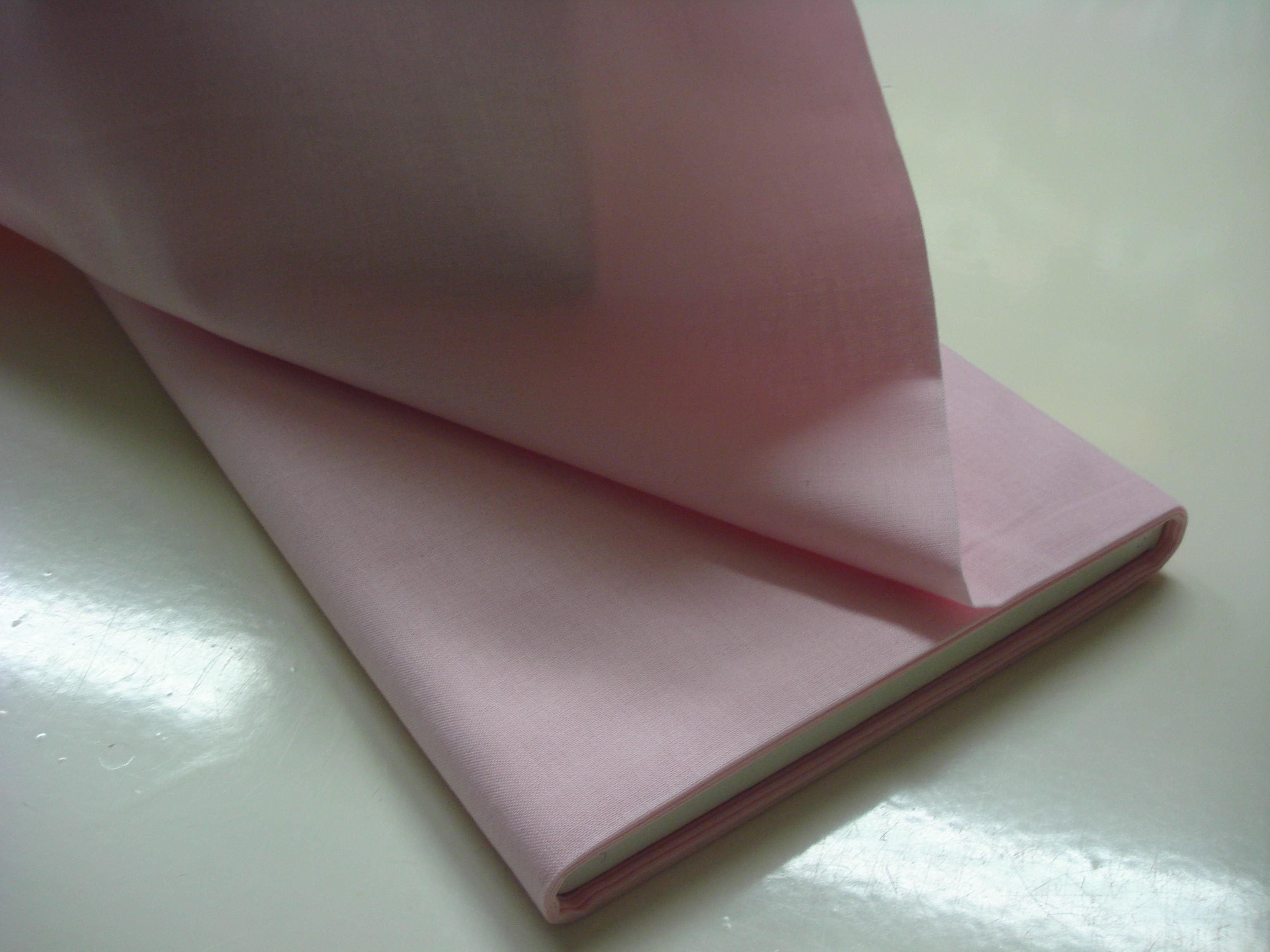 Katoen effen - Roze