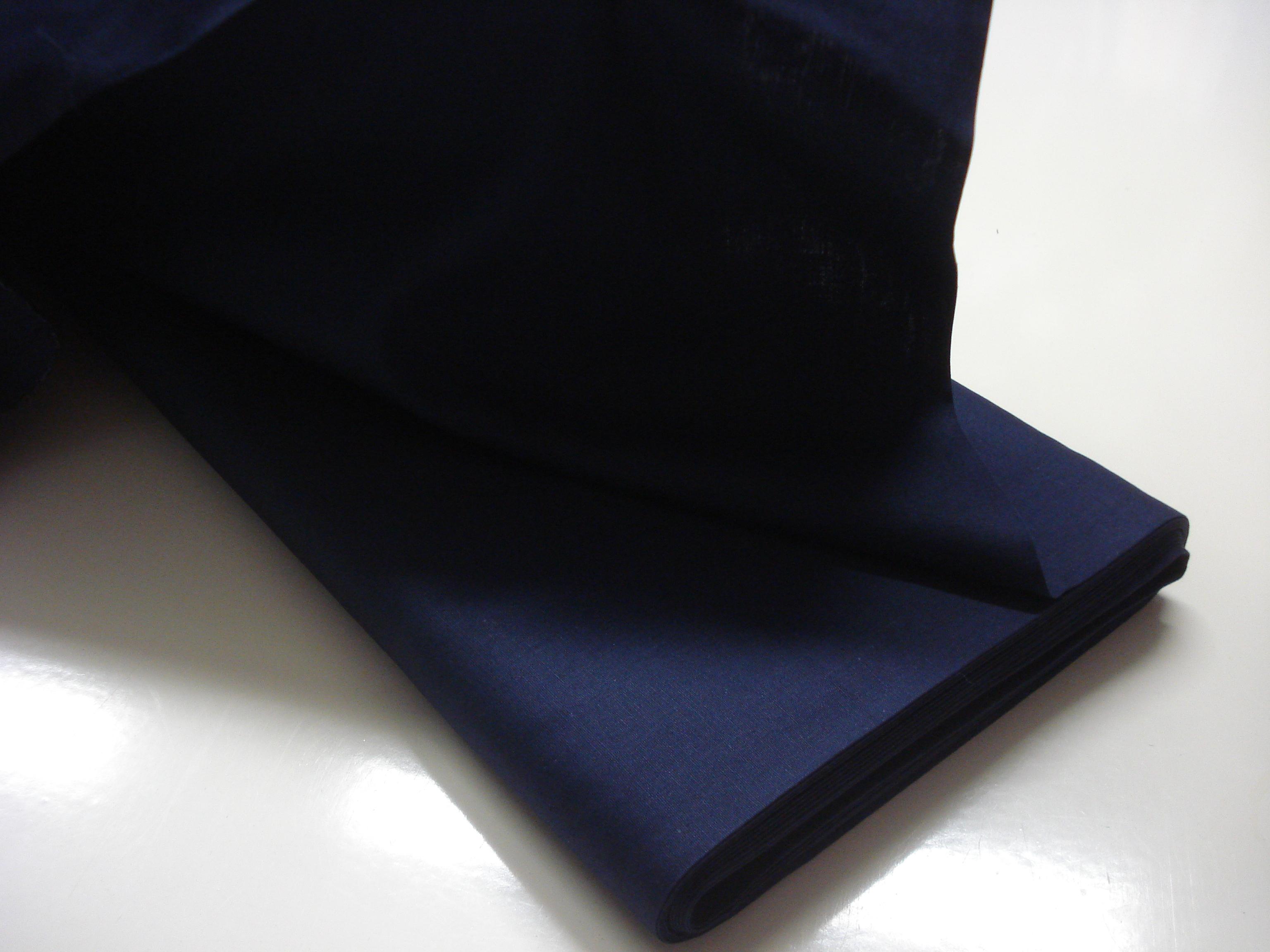Poplin Effen - Donker Blauw