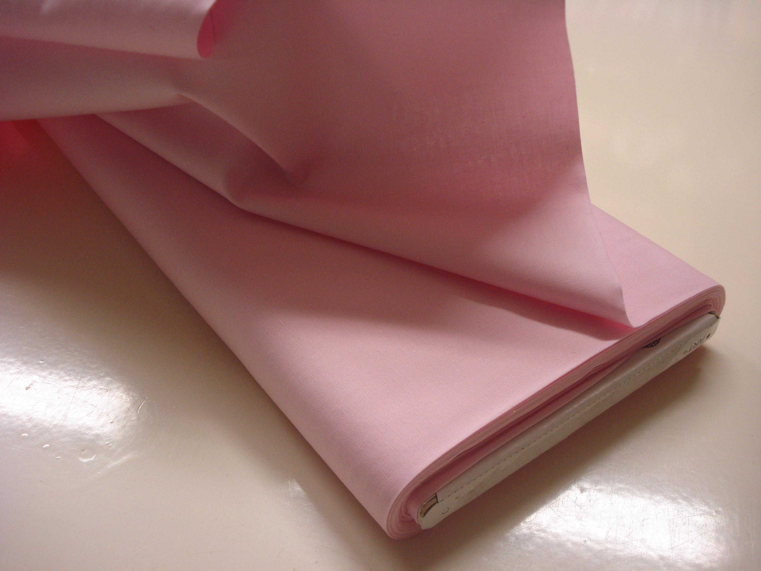 Poplin Effen - Baby Roze