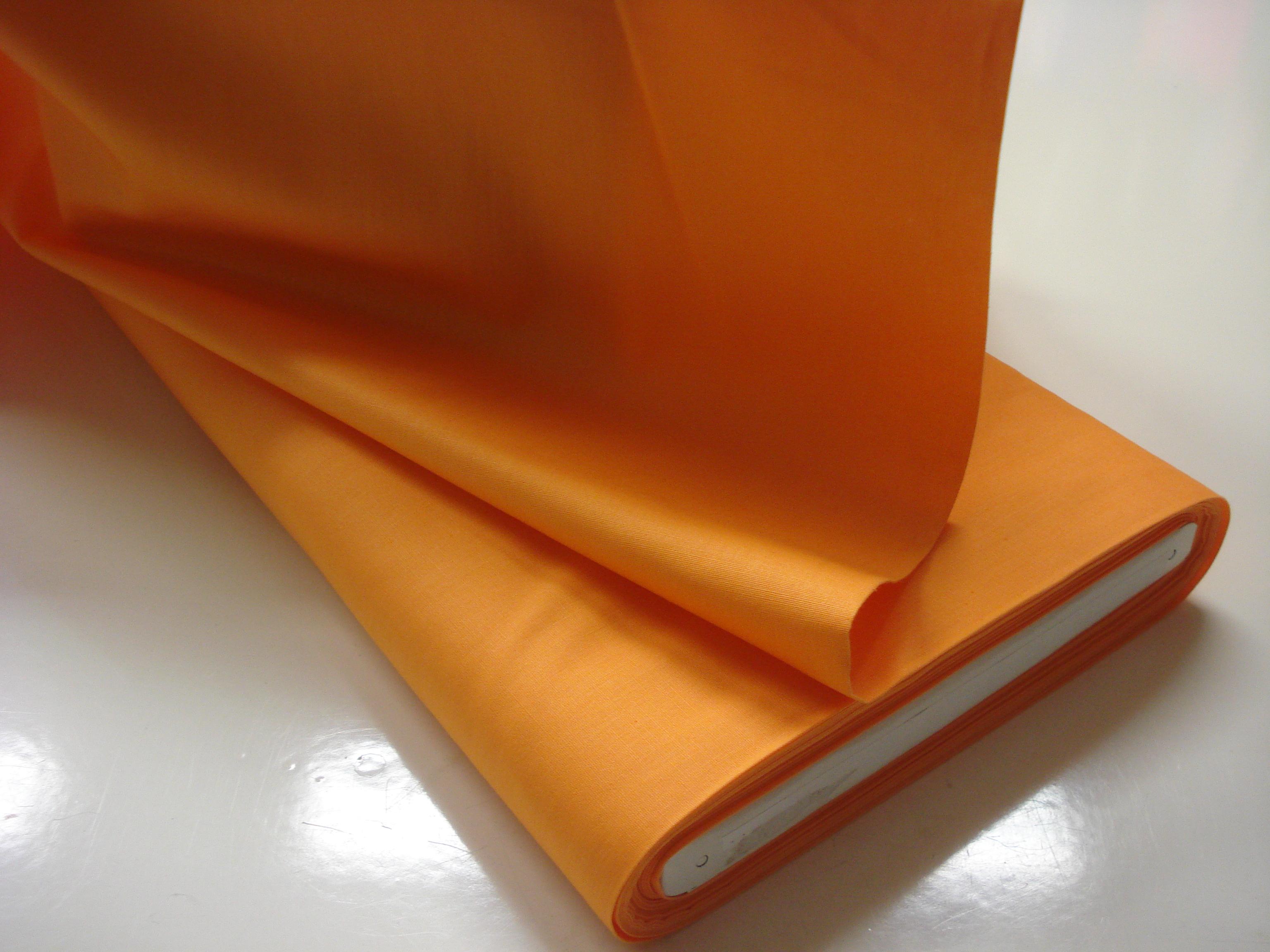 Poplin Effen - Licht oranje