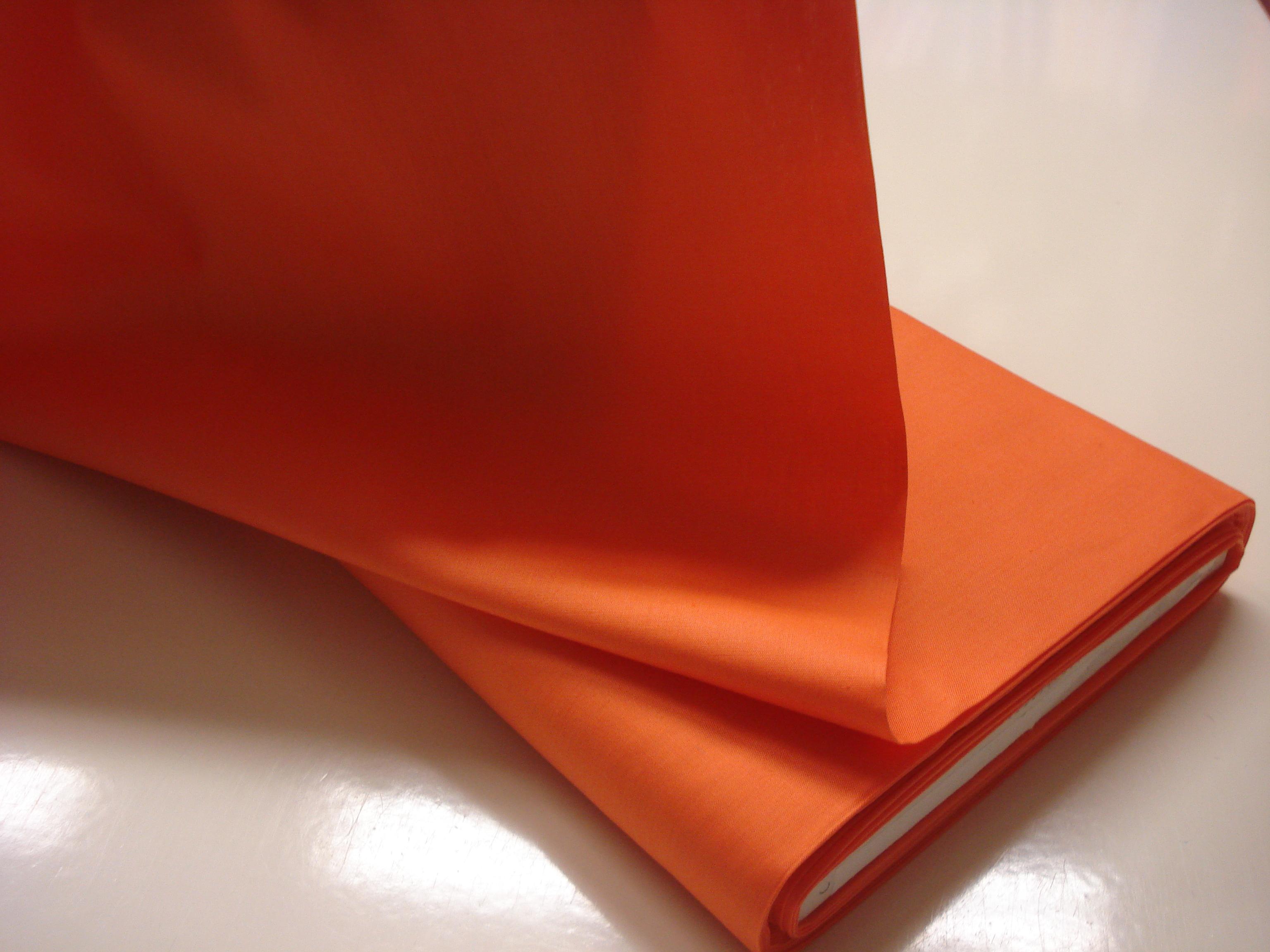 Poplin Effen - Oranje