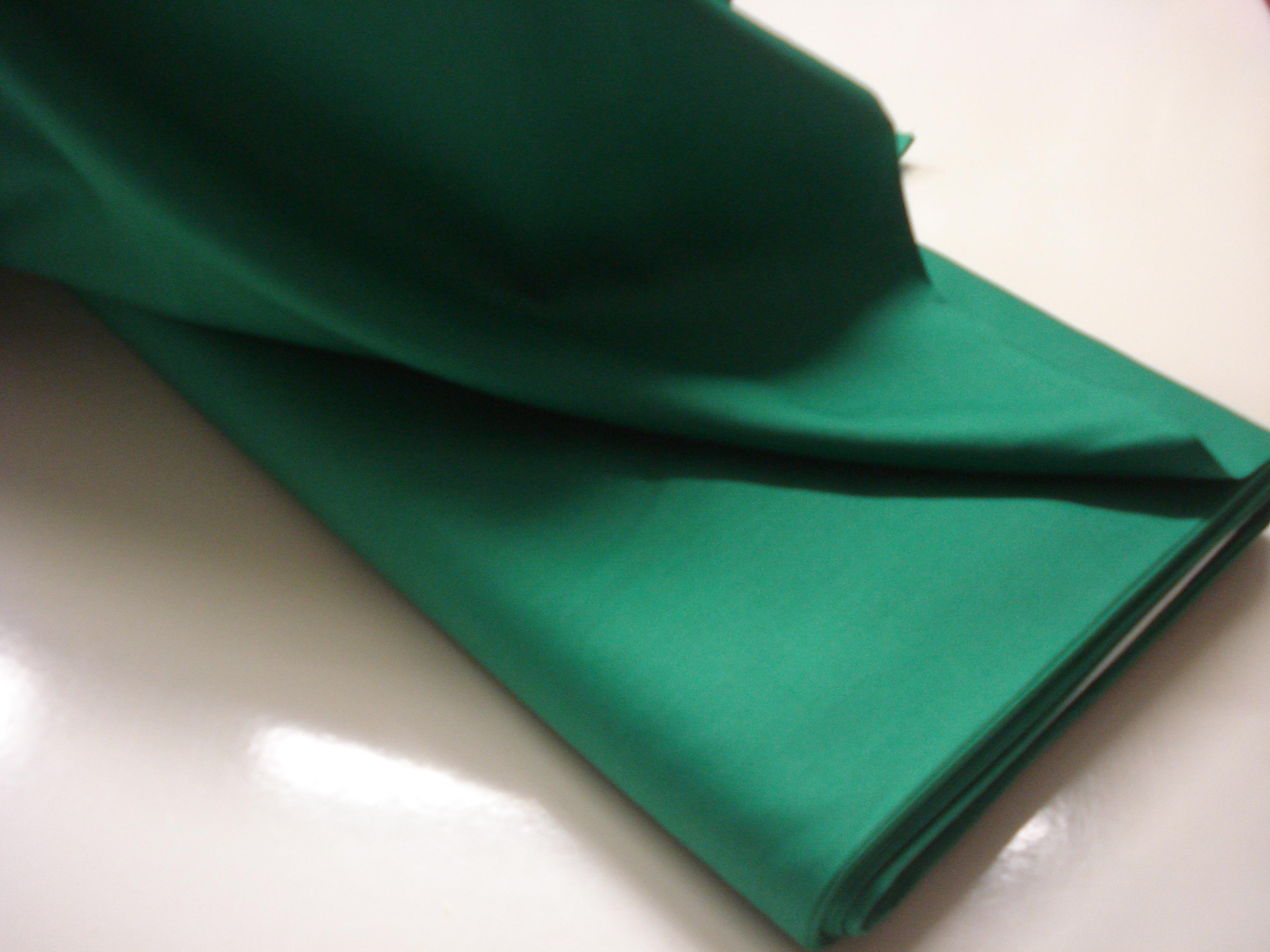 Poplin Effen - Gras Groen