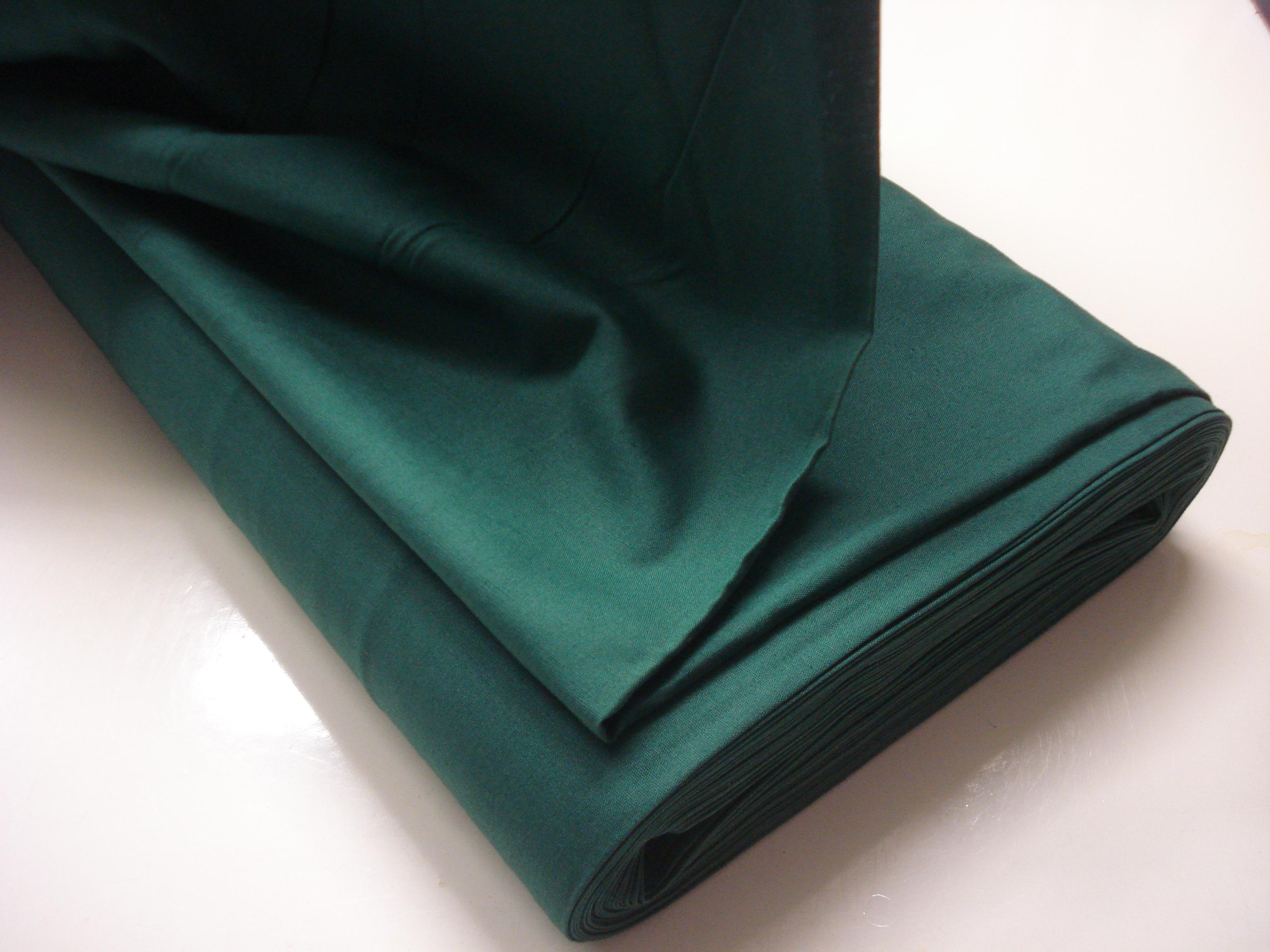 Poplin Effen - Biljardlaken Groen