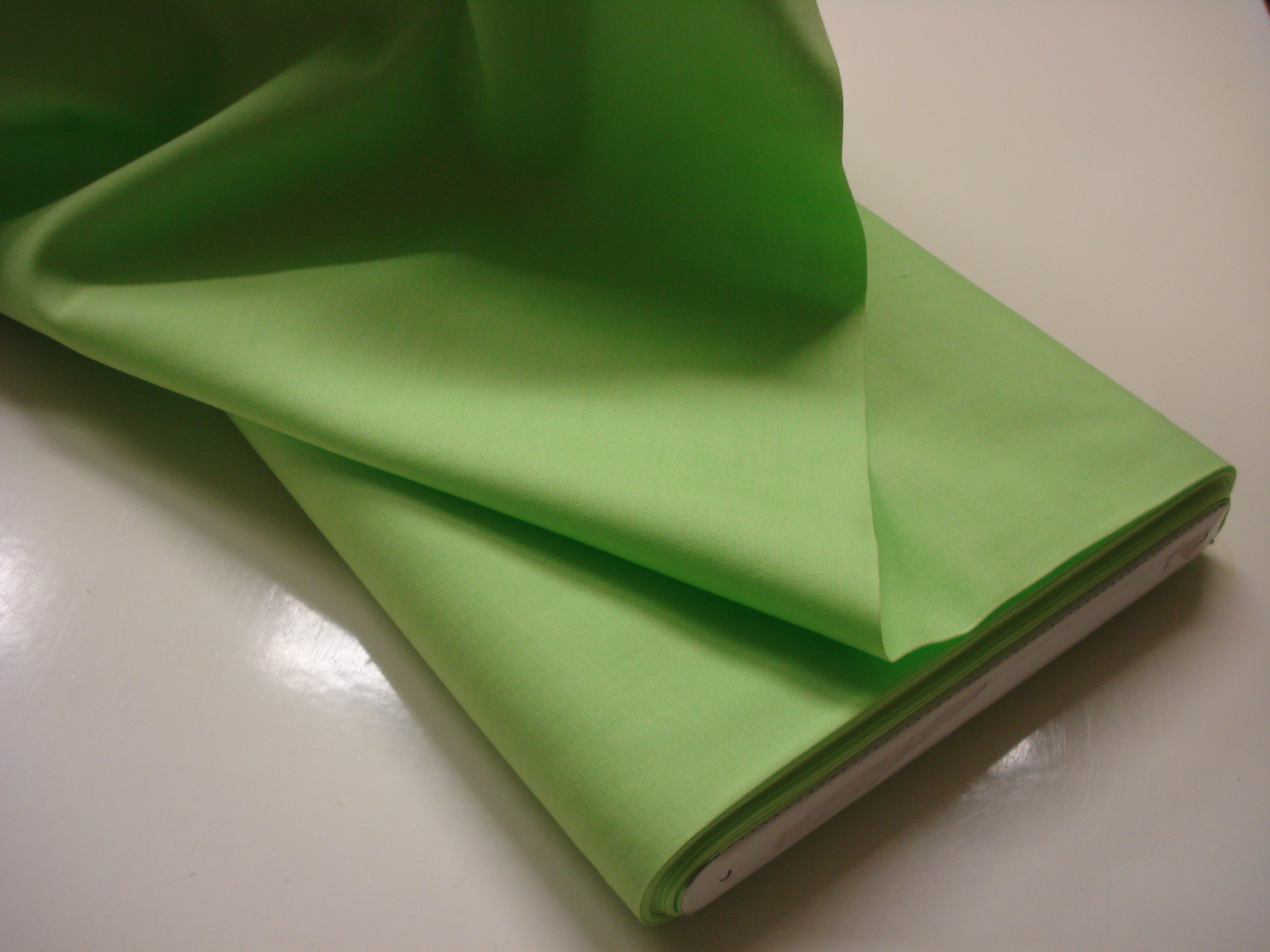 Poplin Effen - Neon Groen