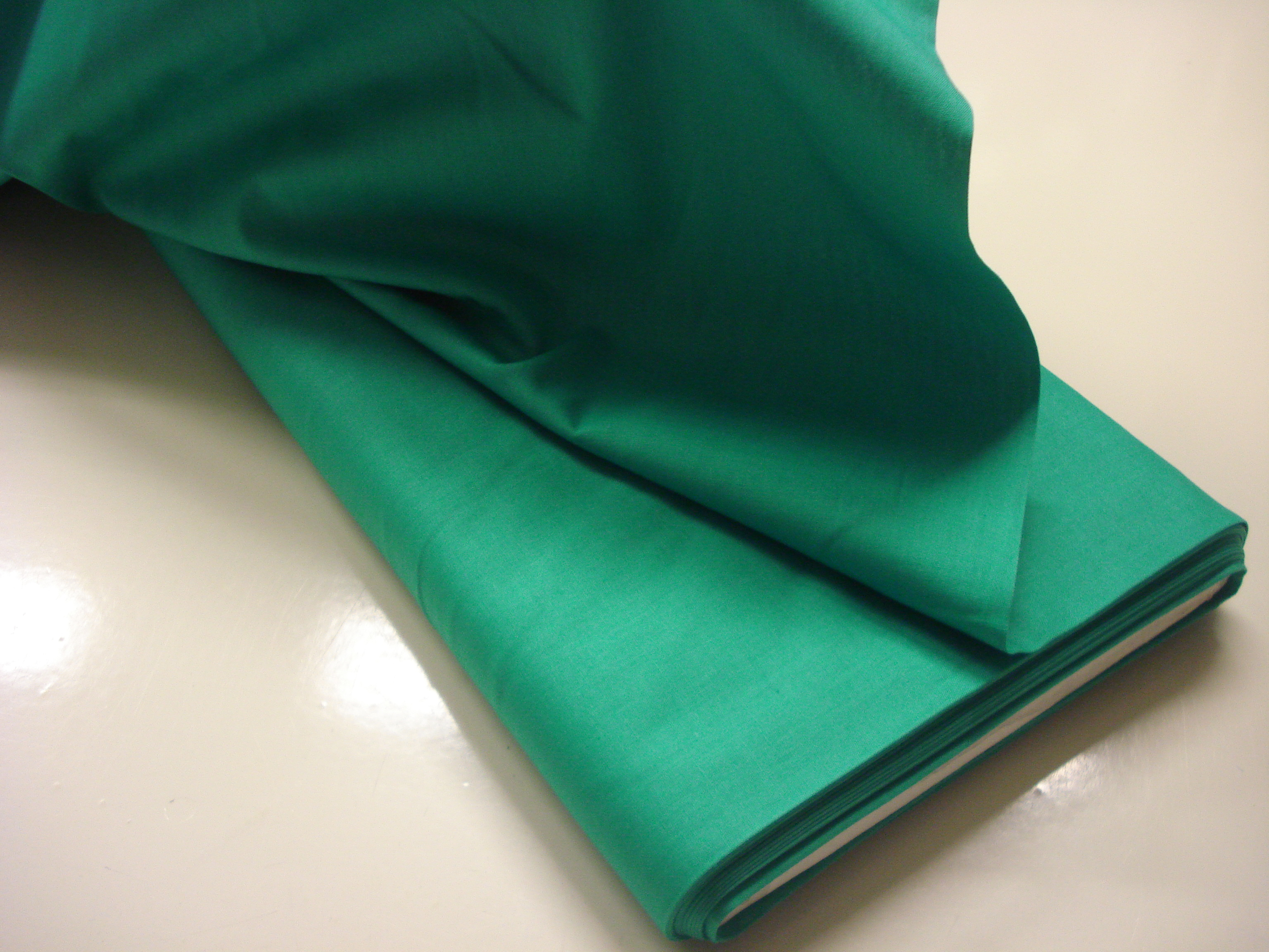 Poplin Effen - Blauwgroen