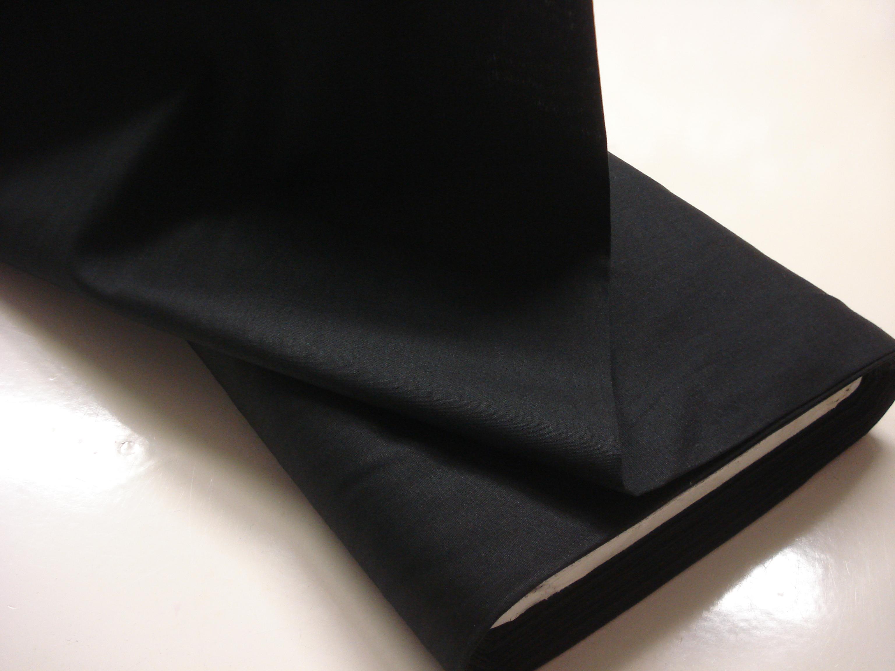 Poplin Effen - Zwart