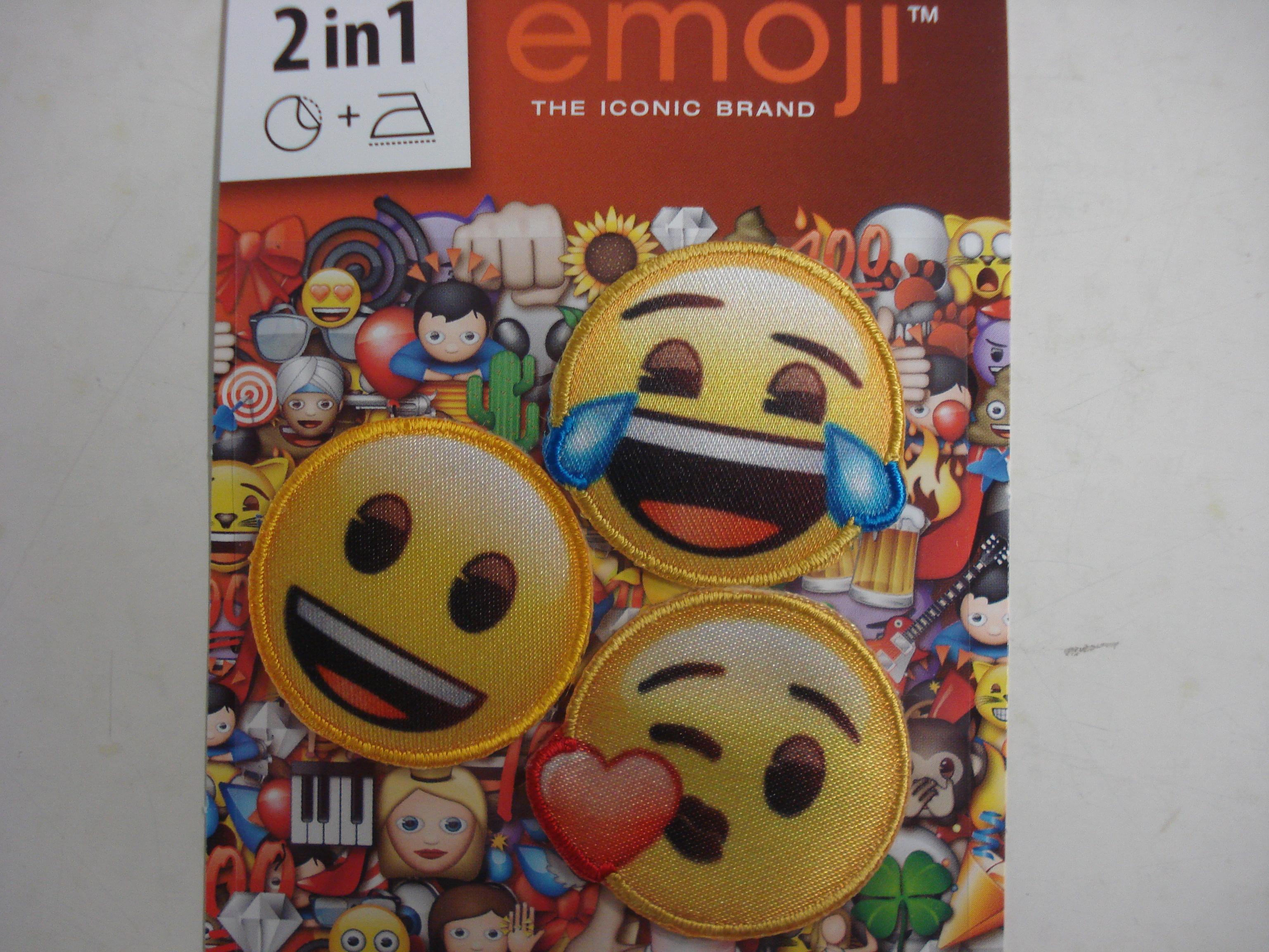 applicatie patch opstrijkbaar emoji 3 stuks (Kopie)