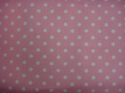 Katoenen stip - roze klein