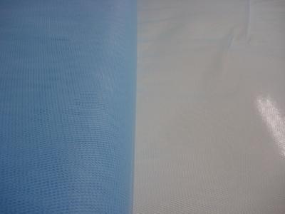 Tule 140 cm breed licht blauw