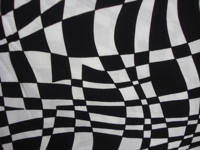 Black and white grafic blouse stof 100% viscose