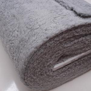 Borg Teddy 80% Katoen grijs 62
