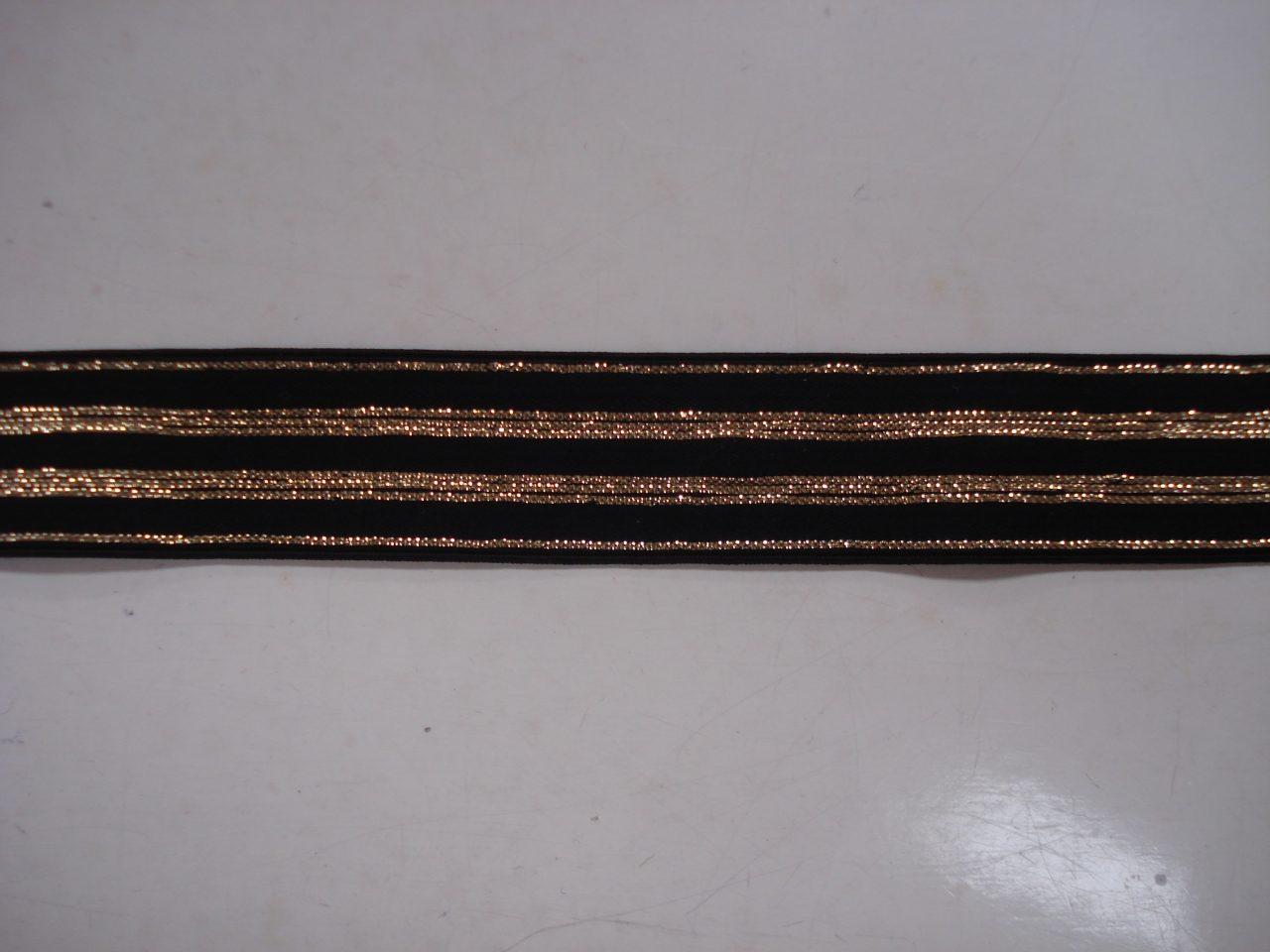 69163cbad58 Gestreept Elastiek zwart/goud lurex 20mm. halve meter €0,88 - Zus en Gus