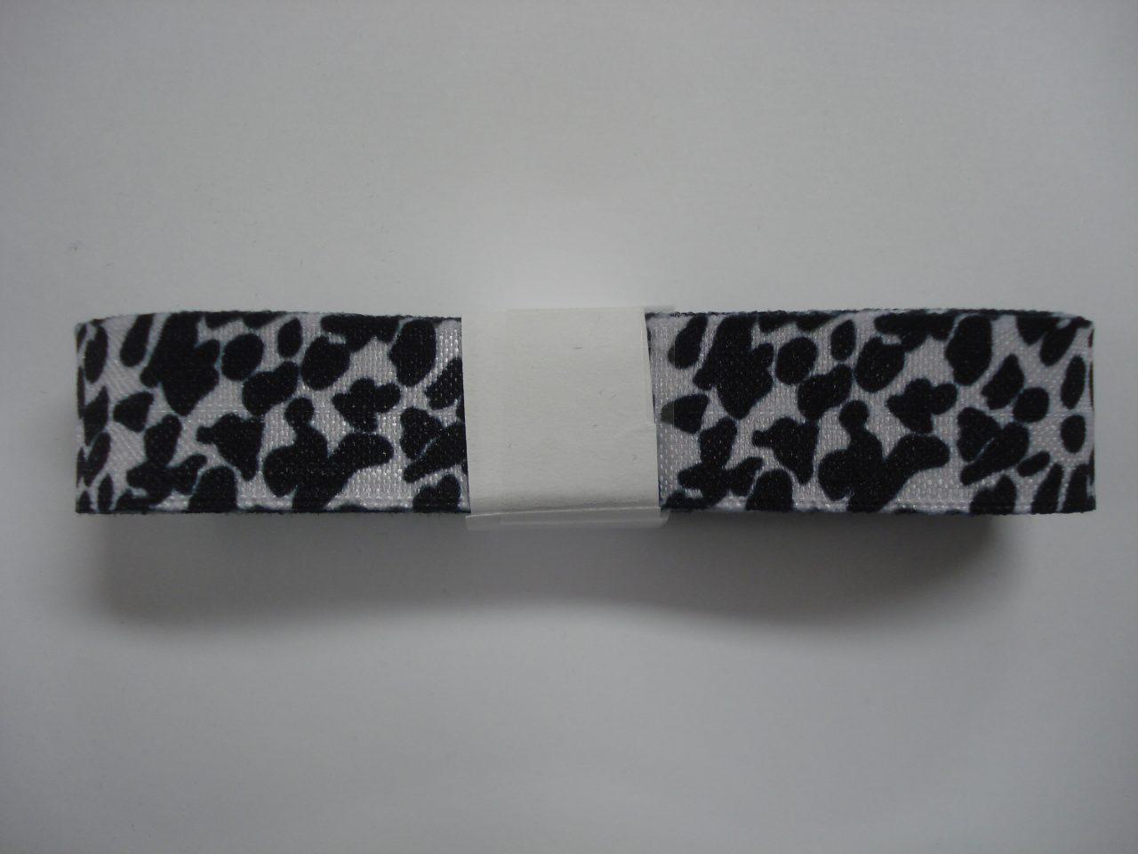 Elastisch Biasband panterprint zwart