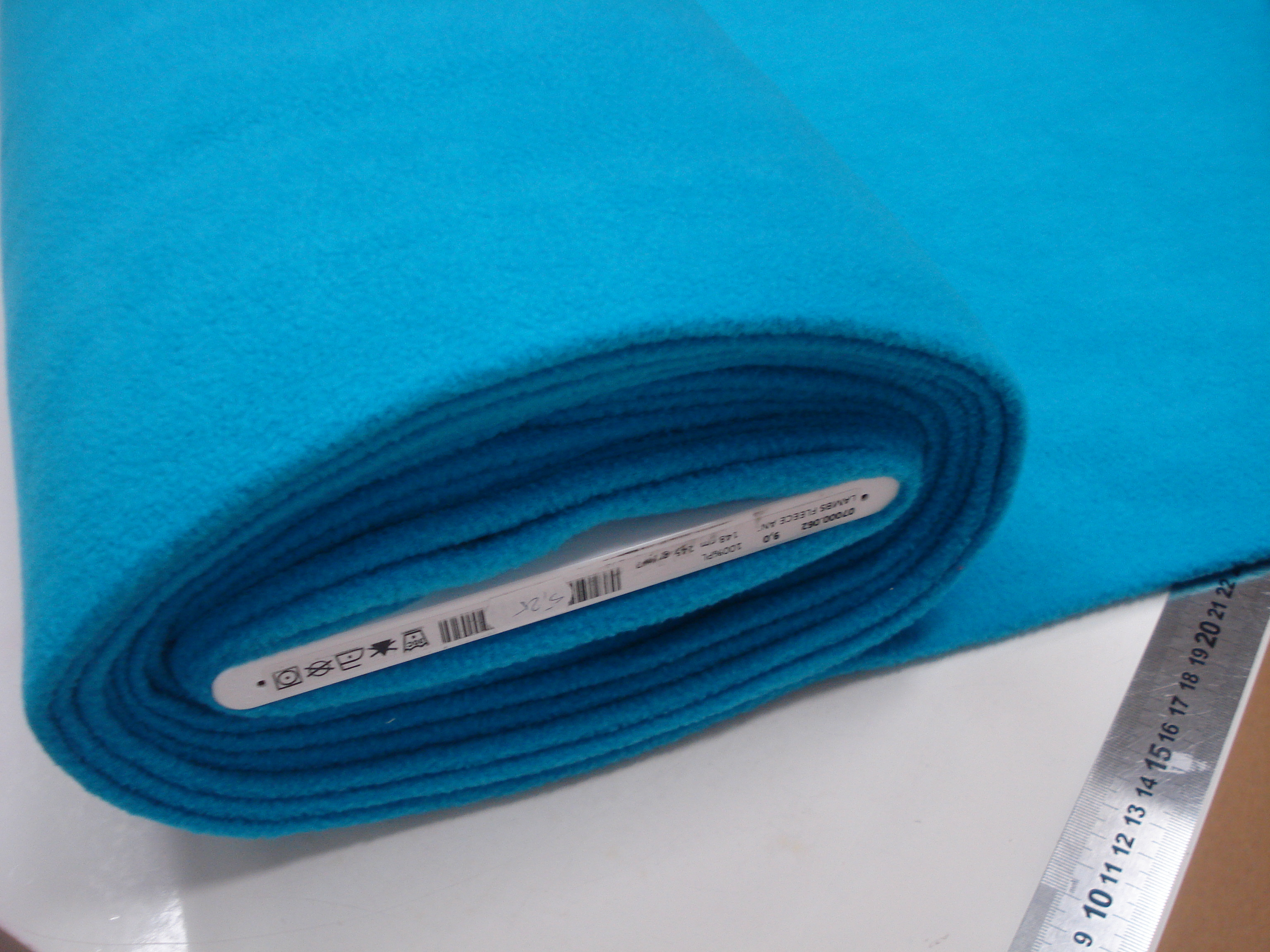 Fleece - turquoise blauw