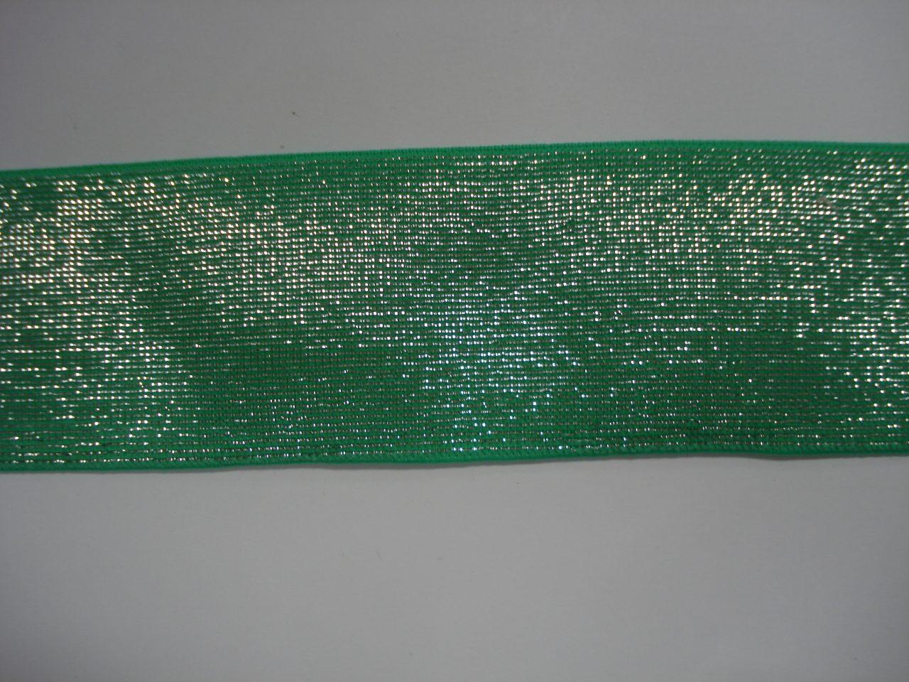 Glitter Elastiek 40mm groen/zilver €3,50 p/m