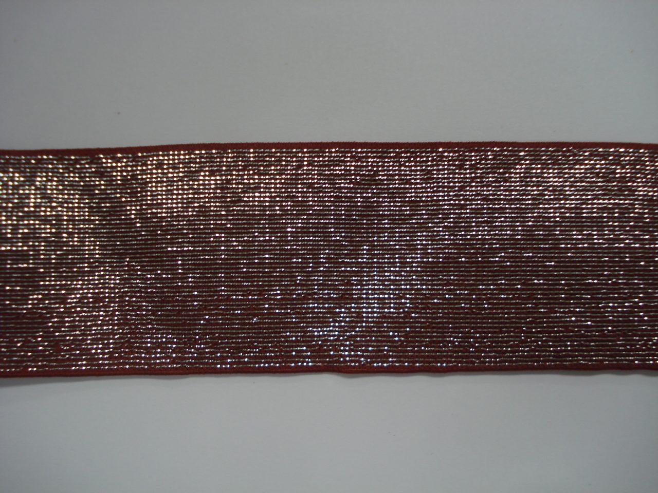 Glitter Elastiek 40mm rood/zilver €3,50 p/m