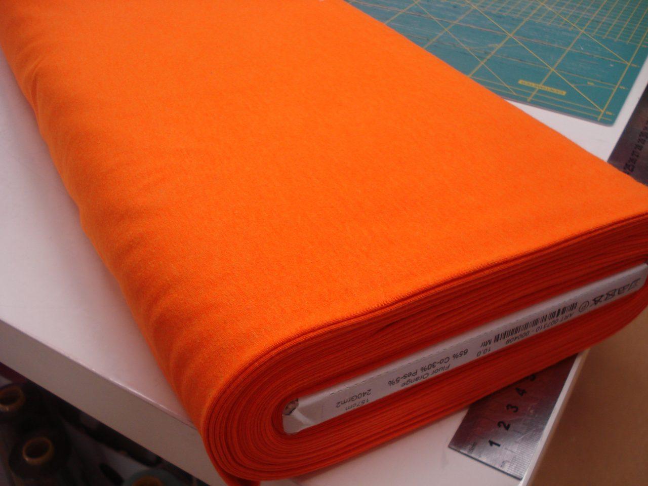 Katoenen tricot uni Fluor Oranje €9,96 p/m