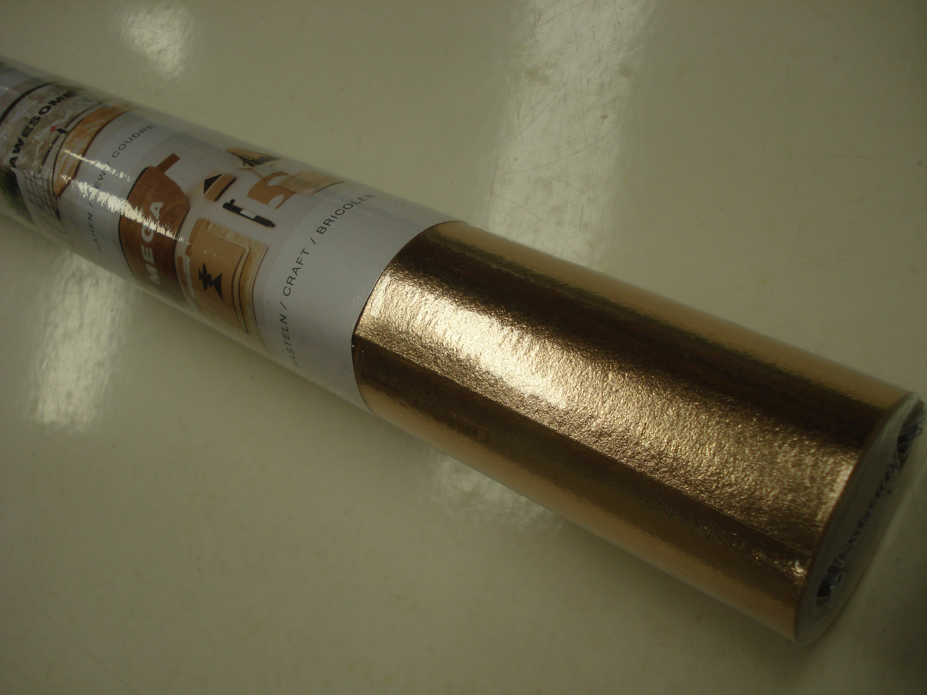 vellen leerpapier/ washable paper brons/rose goud