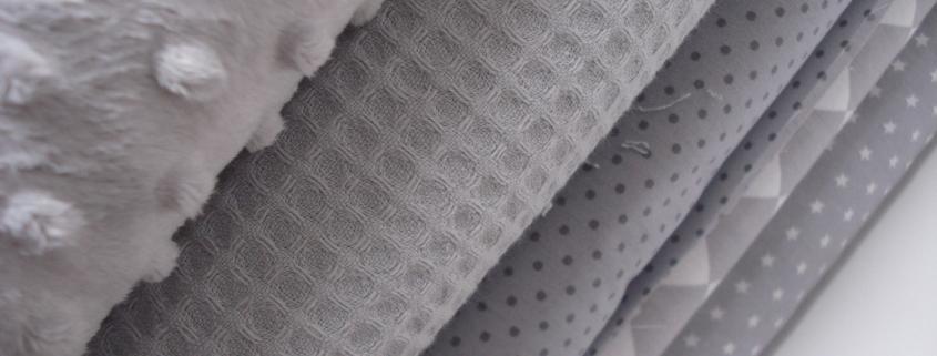 stoffen op kleur grijs
