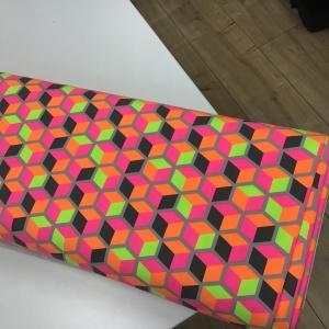 katoenen tricot Neon blok licht grijs €12,00 p/m