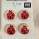 Houten knoopjes lieveheersbeestjes 1,5 cm