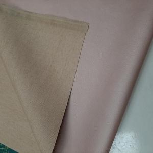 imitatie leer op linnen roze metalic