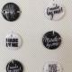 Zwarte labeltjes 1,5 cm