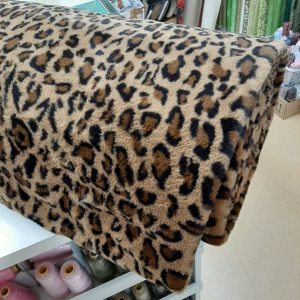 Super zachte cuddle fleece panter bruin €14,00 p/m