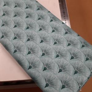 Melba by Leesa Chandler for Textilepantry Fan Teal/silver 0005-14
