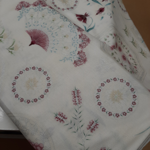 Melba by Leesa Chandler for Textilepantry Ivory/pink 0004-6