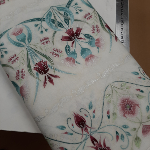 Melba by Leesa Chandler for Textilepantry Ivory/pink 0001-6