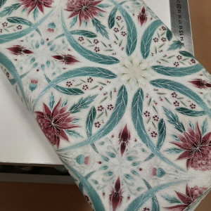 Melba by Leesa Chandler for Textilepantry Ivory/pink 0002-6