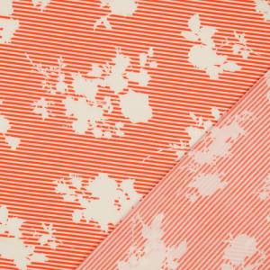 Milli Blu's Stretch katoen bloem op rode streep € 23,00 p/m
