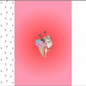katoenen tricot paneel One in a Melon roze €14,00 per paneel
