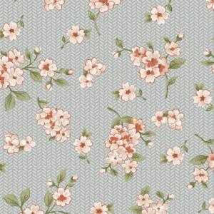 PETITE FLORAL GREY/ROSE By PAINTED SKY STUDIO Grandeur rose 6949-11