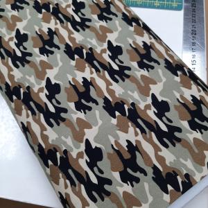 Katoen met camouflageprint bruin €4,00 per 0,50 meter