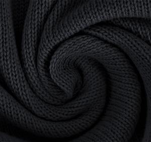 Katoen gebreid fijn kleur zwart