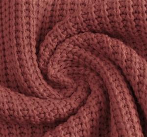 Katoen gebreid grof kleur oud roze