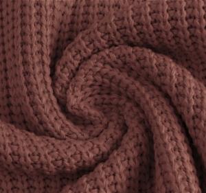 Katoen gebreid grof kleur purple