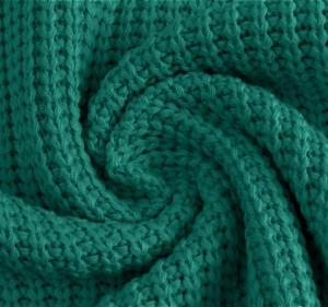 Katoen gebreid grof kleur groen