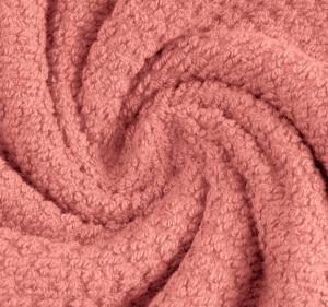 Katoen waffle bébé kleur dark oud roze